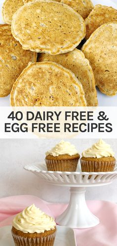 Egg Free Recipes, No Dairy Recipes, Vegan Recipes Easy, Eggless Recipes, Baking Recipes, Dairy Free Eggs, Lactose Free, Free Food, Recipe Ideas