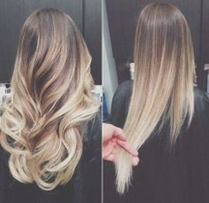 Wow, nice Ombre straightened or with curls