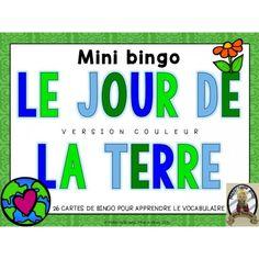BINGO en français - Le jour de la Terre