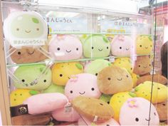 Kawaii plushies. Buns or mochi.