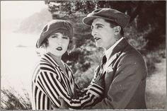 Simone Vaudry et Léonce Cargue dans le film Les Elus de la Mer, vers 1925, by Andre Reybas