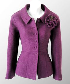 99A-ChanelVioletWorstedWoolJacket
