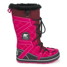 Snow boots Sorel GLACY EXPLORER Pink / Fuchsia...need these to help me get through winter!