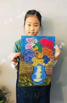 빈 센트 반 고흐[킨더 (초등) 수업 / 시흥시 정왕동 배곧 미술학원 - 창의미술 크리아트 ] : 네이버 블로그 Flower Vases, Flowers, Cartoon Painting, Handprint Art, Moomin, Primary School, Famous Artists, Art For Kids, Art Projects