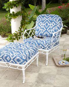 Calcutta+Lounge+Chair+&+Ottoman+by+Brown+Jordan+at+Neiman+Marcus.
