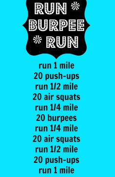 Depending on your speed this is probably a good 45-50 minute workout.
