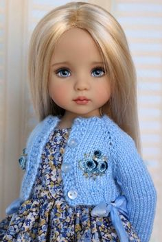 """Doll Knitting Pattern for sweater (Pattern is for 13"""" Efner doll; must be adjusted for AG)"""