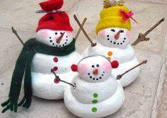 salt dough snowman family
