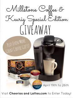 Millstone Coffee and Keurig Giveaway at Cheerios and Lattes.com #giveaway #coffeelovers #keurig #millstone