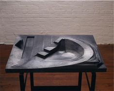 "My favorite pieces at The Noguchi Museum are the unrealized models of playgrounds. This one is called ""Play Mountain."""