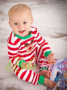 Christmas Pajamas, Monogram Baby Gown, Monogram Gown, Christmas ...