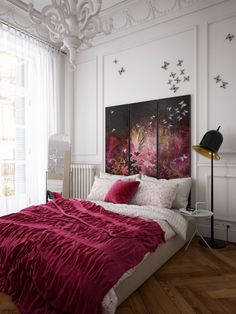 """Picture from """"Bachelorette"""" - project by interiordelight. An artist has no home in Europe save in Paris (Nietzsche) Render Design, Loft, Beautiful Bedrooms, Mid-century Modern, Mid Century, Interior Design, Architecture, Toque, Design Projects"""