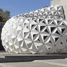 ArboSkin pavilion made from  bioplastic by ITKE http://www.dezeen.com/2013/11/09/arboskin-spiky-pavilion-with-facademade-from-bioplastics-by-itke/