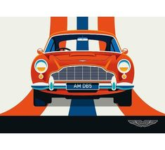 """bolundberg on Instagram: """"Aston Martin DB5, the classic James Bond car. Done in cooperation with Adam Lundberg #astonmartin #bond #jamesbond #classiccar #retrocar…"""" James Bond Cars, Aston Martin Db5, Retro Cars, Classic Cars, Illustrations, Instagram, Vintage Classic Cars, Illustration, Illustrators"""