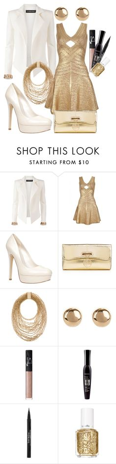 """""""New Year Party"""" by deedee-pekarik ❤ liked on Polyvore featuring Alexandre Vauthier, ALDO, Christian Louboutin, Rosantica, Jules Smith, NARS Cosmetics, Bourjois, Trish McEvoy and Essie"""