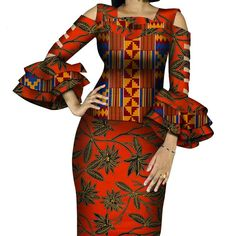 African Print Ruffles Sleeve Tops and Skirt Sets Knee-length clothing African Print Ruffles Sleeve Tops and Skirt Sets Knee-length clothing – DRESS THE LADIES African Dresses For Kids, African Wear Dresses, Ankara Dress Styles, Latest African Fashion Dresses, African Print Fashion, African Attire, African Outfits, Chitenge Outfits, A Line Long Dress