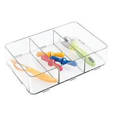 mDesign Interlocking Drawer Organizer for Kitchen Storage to Hold Silverware Gadgets Divided Clear *** Check out extra evaluations of the item by going to the web link on the image. (This is an affiliate link). Kitchen Tools, Kitchen Gadgets, Kitchen Storage, Clear Check, Drawer Organisers, Plastic Cutting Board, Drawers, Divider, Organization