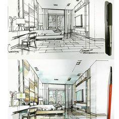 #bedroom #sketch #watercolour #interiordesign