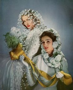 Babe Paley on the right.  Photo by Horst P. Horst.  Vogue, April 1, 1941.