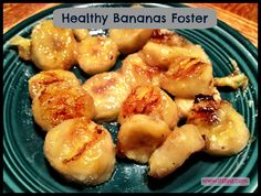 Healthy Bananas Foster Dessert - two ingredients: bananas and coconut oil