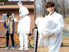 Desperate Woo Hyun...tho I would love to know where he got that costume...