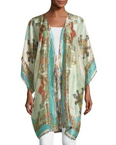 Chapel Printed Silk Kimono Jacket