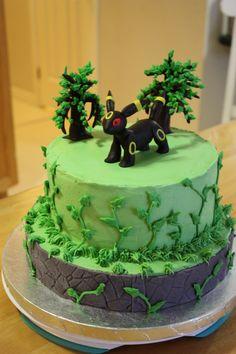 Pokémon Umbreon cake Pokemon Birthday Cake, Pokemon Party, Birthday Cakes, Birthday Parties, 13th Birthday, Girl Birthday, Pokemon Umbreon, Diy Cake, Baking Ideas