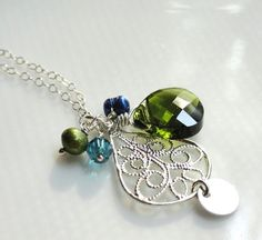 Penny peacock inspired small silver filigree teardrop by 10west, $27.00