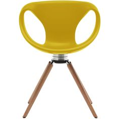 Tonon Up Chair Swivel With Oak Legs - Memory Return - Yellow (2 770 PLN) ❤ liked on Polyvore featuring home, furniture, chairs, yellow, colored chairs, yellow chair, colored furniture, swivel chairs and yellow furniture