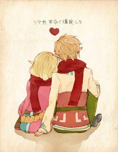<3  Link and Zelda <3