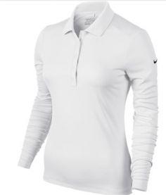 Polo Nike golf Victory para mujeres. Polo Nike Golf clásico para mujeres, de manga larga y con cuello de varios botones