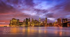 Manhattan with Brooklyn Flyover !!! by aamitabhsharma