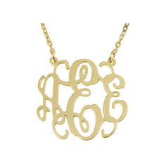 Monogram necklace - 1.25 inch Personalized Monogram - 925 Sterling... ($45) ❤ liked on Polyvore featuring jewelry, necklaces, sterling silver necklaces, initial pendant necklace, chain necklace, thick chain necklace and sterling silver initial pendant