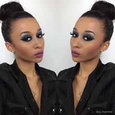 Make para pele negra. #makeup #queen #perfect