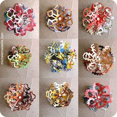 DIY Junk Mail Snowflakes by michelemademe #DIY #Paper_Snowflakes