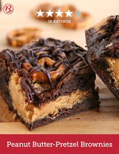 These decadent brownies prove that peanut butter and chocolate taste better together. Betty members rave about the addition of pretzels, which makes this recipe the perfect amount of sweet and salty.