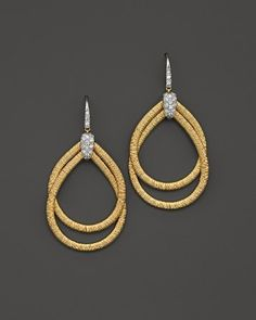 Marco Bicego 18K Yellow Gold Cairo Drop Earrings with Diamonds | Bloomingdale's