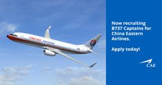 B737 Captains pay attention! Our client China Eastern Airlines are seeking B737 Captains for their Shanghai base in China. They offer very attractive contract terms which includes basic salary up to USD $216,000 per year, annual safety bonus, Chinese taxes covered by the airline, monthly accommodation allowance and many more. Register your interest now!