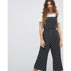 Miss Selfridge Polka Dot Jumpsuit (235 SAR) ❤ liked on Polyvore featuring jumpsuits, multi, zipper jumpsuit, miss selfridge, miss selfridge jumpsuit, jump suit and zip jumpsuit
