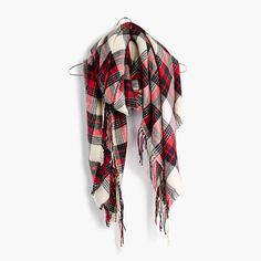 "Light and supersoft (like favorite-sweater soft), this cozy plaid scarf was inspired by our keep-forever flannel shirts. One you'll reach for over and over again. <ul><li>Acrylic.</li><li>52 3/4""L x 52 3/4""W.</li><li>Dry clean.</li><li>Import.</li></ul>"
