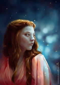 Beautiful portrait of Margaery Tyrell of House Tyrell #GameOfThrones #asoiaf #MargaeryTyrell