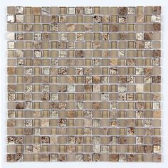 All Marble Mosaic Glass and Stone Mix 5/8 x 5/8 Glass Mosaic Tile Mag 4428 SQ from http://AllMarbleTiles.com