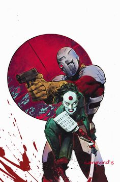 SUICIDE SQUAD MOST WANTED: DEADSHOT/KATANA #1 Written by BRIAN BUCCELLATO and MIKE W. BARR,  Art by VIKTOR BOGDANOVIC, RICHARD FRIEND and DIOGENES NEVES,  Cover B featuring KATANA by CARY NORD