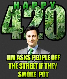 Guess who smoked pot on Jimmy Kimmel for 420