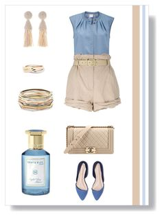 """№ 422/2"" by tigrpuh ❤ liked on Polyvore featuring Moschino, Chanel, Kendra Scott, Oscar de la Renta, Cartier and Shay & Blue"