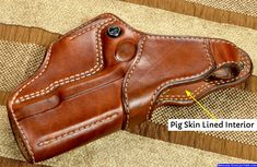 This Hoplon holster is fitted with pig-skin lining. Sob Holster, 1911 Holster, Pocket Holster, Pistol Holster, Leather Holster, Paddle Holster, Western Holsters, Cz 75, Colt 1911