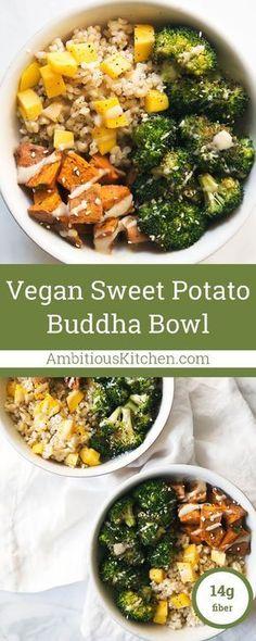 Sweet Potato Buddha Bowl with Almond Butter Dressing