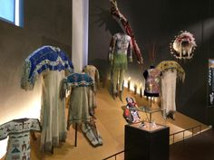 Collection of Lakota clothing in the North American Native Museum in Zurich