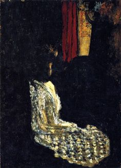 Woman Seated in a Dark Room-c.1895 by Edouard Vuillard