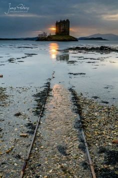 Castle Stalker at the shore of Loch Laich, Argyll and Bute _ original Castle was built in 1320 by Clan MacDougall